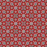 Sindhi Red Ajrak Pattern Stock Photography