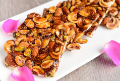 Sindhi roasted dryfruit brittle-varo Stock Photos