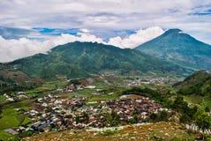 Sindoro火山在中爪哇省 库存图片