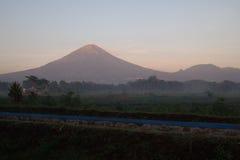 Sindoro mountain in the morning Royalty Free Stock Photos