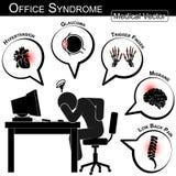 Sindrome dell'ufficio Fotografia Stock