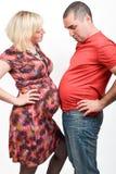 Sindrome di Couvade - gravidanza comprensiva immagine stock libera da diritti