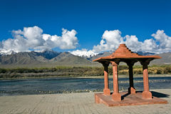 Sindu Darshan Place in der Bank von Fluss Indus, Leh-Ladakh, Indien Stockbild