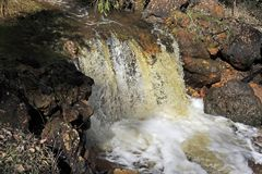 Small Water Falls, every winter when the creek starts running. royalty free stock photography