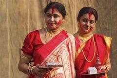 Sindur Khala Durga Puja 2011 bei Kolkata Stockfotos