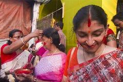 Sindur Khala Durga Puja 2011 bei Kolkata Stockfoto