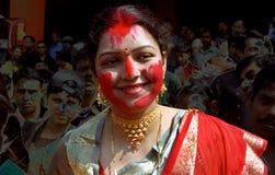 Sindur Khela Royalty Free Stock Images