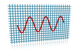 Sine Curve. 3D rendering of the sine curve Royalty Free Stock Image