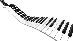 Sine curve Piano. Piano keyboard sine curve on black level Royalty Free Stock Photos