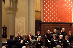 Sine nomine choeur choral d'ensemble photo stock