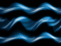 Sine Wave. S background suitable for audio, music and science related projects Stock Images
