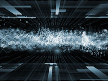 Sine Wave Acceleration Royalty Free Stock Images