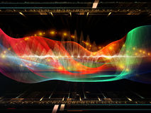 Sine Wave Oscillation Royalty Free Stock Image