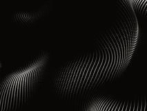 Sine Wave Screen. Screen of sine waves on the subject of technology and science Stock Photo