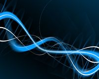 Sine waves graphic. With black background Stock Images