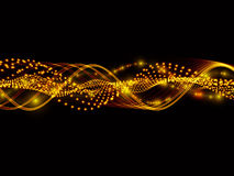 Sine Waves Of Lights Royalty Free Stock Photos