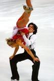 Sinead Kerr and John Kerr. ISU European Figure Skating Championship 2009 in Helsinki, Finland. Sinead Kerr and John Kerr from Great Britain in Ice Dance Original Royalty Free Stock Photos