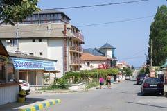 Sinemorets, малый курорт на море в южной Болгарии Стоковые Изображения
