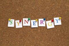 sinergia Imágenes de archivo libres de regalías