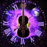 Sinergia cósmica da música e do espaço tempo ilustração royalty free