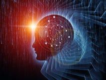 Sinergia de la mente ilustración del vector