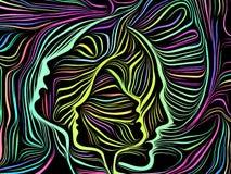 Sinergias de líneas internas ilustración del vector