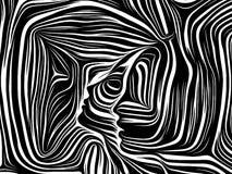 Sinergias de líneas internas stock de ilustración