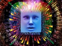 Sinergias do ser humano super AI Fotos de Stock Royalty Free