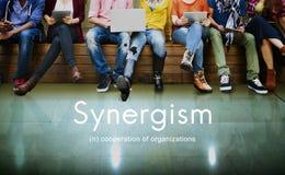 Sinergismo Team People Graphic Concept Fotografie Stock