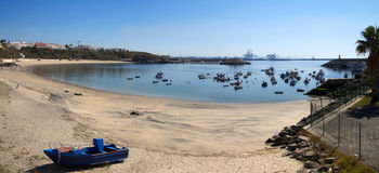 Sines beach and bay Royalty Free Stock Photography