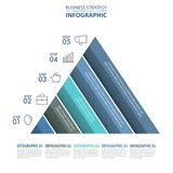 Siness Infographics pyramid steps strategy design elements. Business Infographics pyramid steps strategy design elements template blue color tone illustration Royalty Free Stock Photos