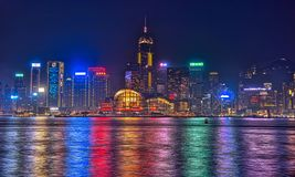 Sinfonía de Hong-Kong de luces foto de archivo