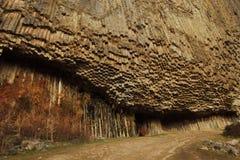 Sinfonia das pedras ou órgão do basalto no desfiladeiro de Garni, Armênia fotografia de stock royalty free