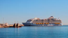 Sinfonia della nave da crociera dei mari fotografie stock libere da diritti