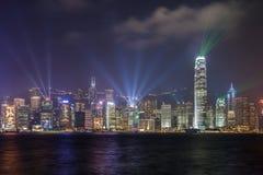 Sinfonia di luce, Hong Kong Immagini Stock Libere da Diritti