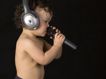 Sing baby. Royalty Free Stock Photos
