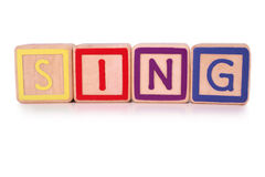 Sing blocks Stock Photography
