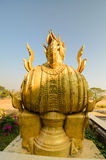 Sing ha statue ancient object in Thailand Stock Image