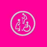 Sing icon of old man, disable, pregnant woman Royalty Free Stock Image