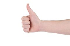 Sing language. Hand shows superbly. Royalty Free Stock Image