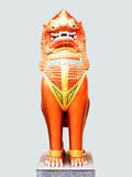 Sing. Or lion in Lanna - Thai  styled stands on concrete base Stock Photography