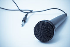 Sing Me a Song. Microphone Musical Industry Concept portrayed through Unplugged microphone in Selenium Tone Stock Image