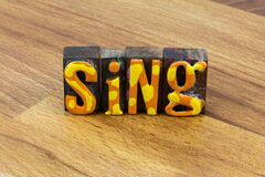 Sing music happy song Karaoke singer musical entertainment typography