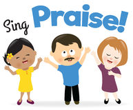 Sing praise. Illustration of a group of people singing praise Royalty Free Stock Images