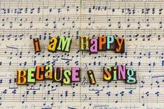 Sing que canta dias felizes imagens de stock