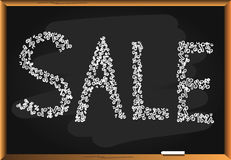Sing SALE on blackboard Royalty Free Stock Photos