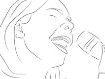 Sing a song. An illustration of a girl singing Royalty Free Stock Photography