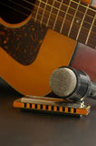 Sing a song. Musical instruments royalty free stock photos