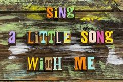 Free Sing Song With Me Music Enjoy Singing Life Royalty Free Stock Image - 160258326