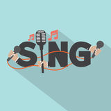 Sing Typography With Microphones Design Royalty Free Stock Image